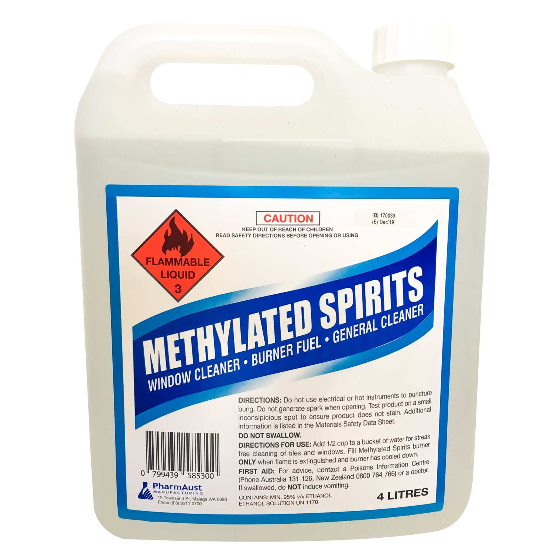 METHYLATED SPIRITS - PharmAust Manufacturing - Health
